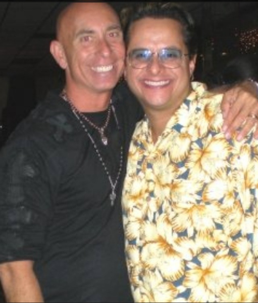 Tito Puente Jr. with Jeff Sandler, Co-Owner of Goldcoast Ballroom