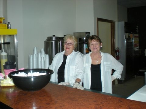 Out Kitchen Staff: Marly Gomes Da Silva, Certified Food Manager (Left);  Sallie Harris, Certified Food Handler (Right)