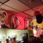 The Party's Only Beginning & Guests Already Lining Up at our Kitchen Window!