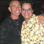 Tito Puente Jr. with Jeff Sandler at Goldcoast Ballroom