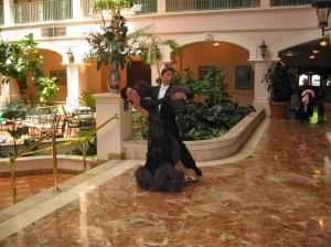 Jeff Sandler and Olga Bogdanov at Peter and Cassandra Schneider's Competition circa 2002