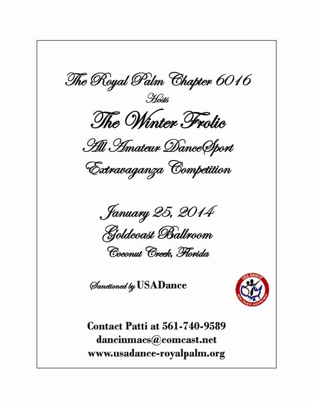 USA Dance Royal Palm Challenge Competition - January 25, 2014 - at Goldcoast Ballroom