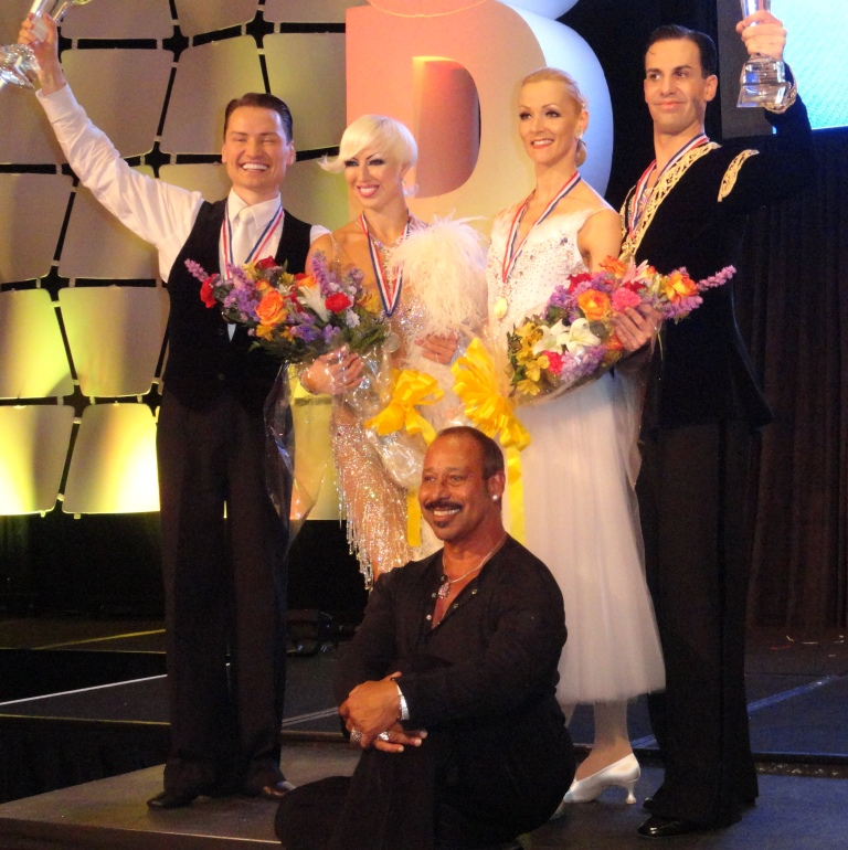 US Show Dance Champions Paolo & Liene Di Lorenzo and Andre & Natalie Paramonov, with Coach Rufus Dustin - First Place Winners at 2013 USDC