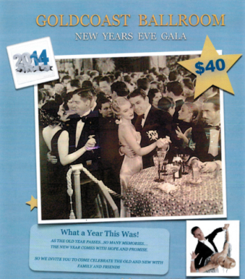 Goldcoast Ballroom New Year's Eve Gala – December 31, 2013 (8:00 PM to ???)