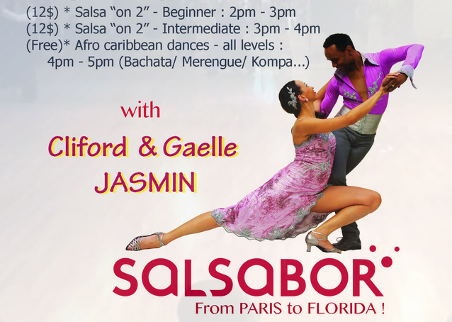 Cliford & Gaelle Jasmin - Salsa on 2  & Afro-Carribbean dances - Group Classes Sundays in February