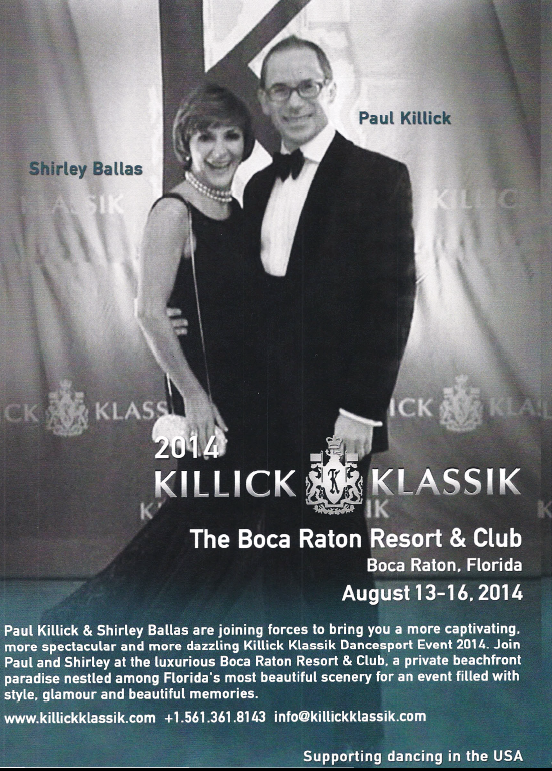 Shirley Ballas & Paul Killick Visit Goldcoast Ballroom to Announce the Spectacular 2014 Killick Klassik DanceSport Competition at The  Boca Raton Resort & Club, Boca Raton, Florida