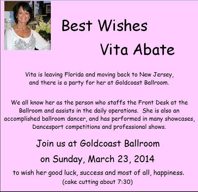 Best Wishes to Vita - March 23!