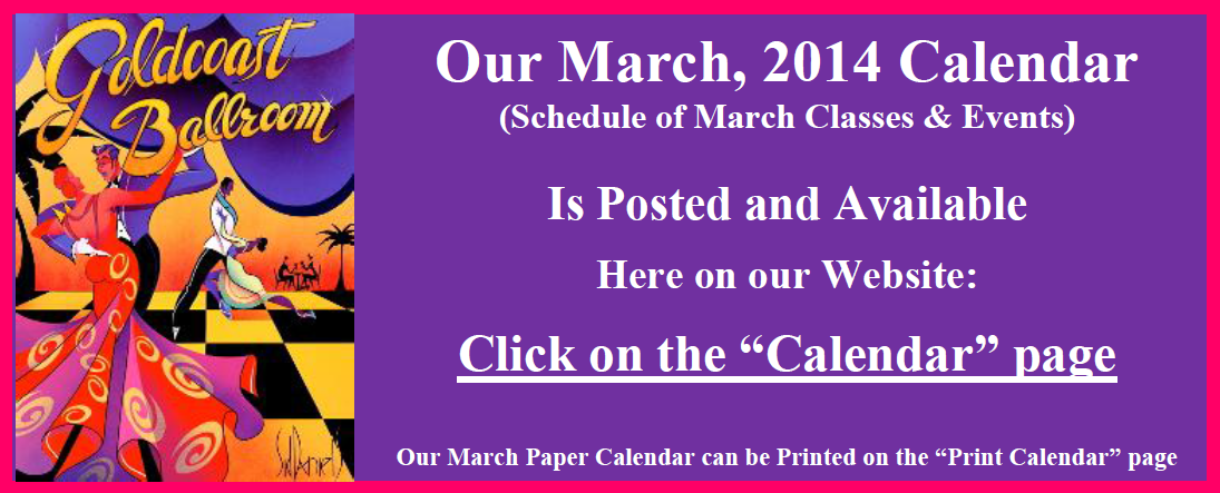 March Calendar Posted on Calendar Page & Paper Calendar Can be Printed on Print Calendar Page
