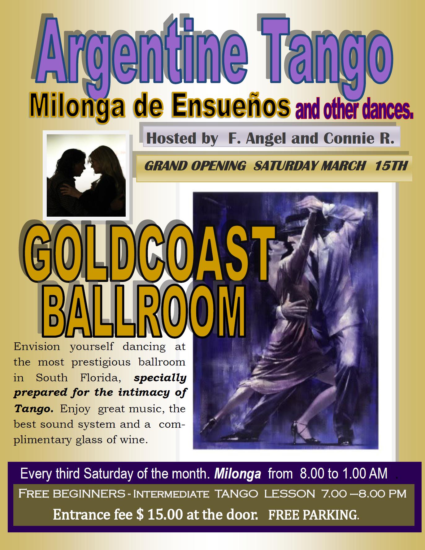 Milonga de Ensueños - March 15, 2014 - 8:00 PM - 1:00 AM