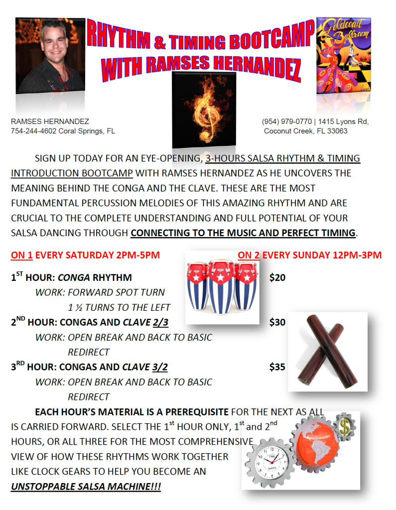 Ramses Hernandez - 3 Hour Salsa Rhythm & Timing Bootcamp