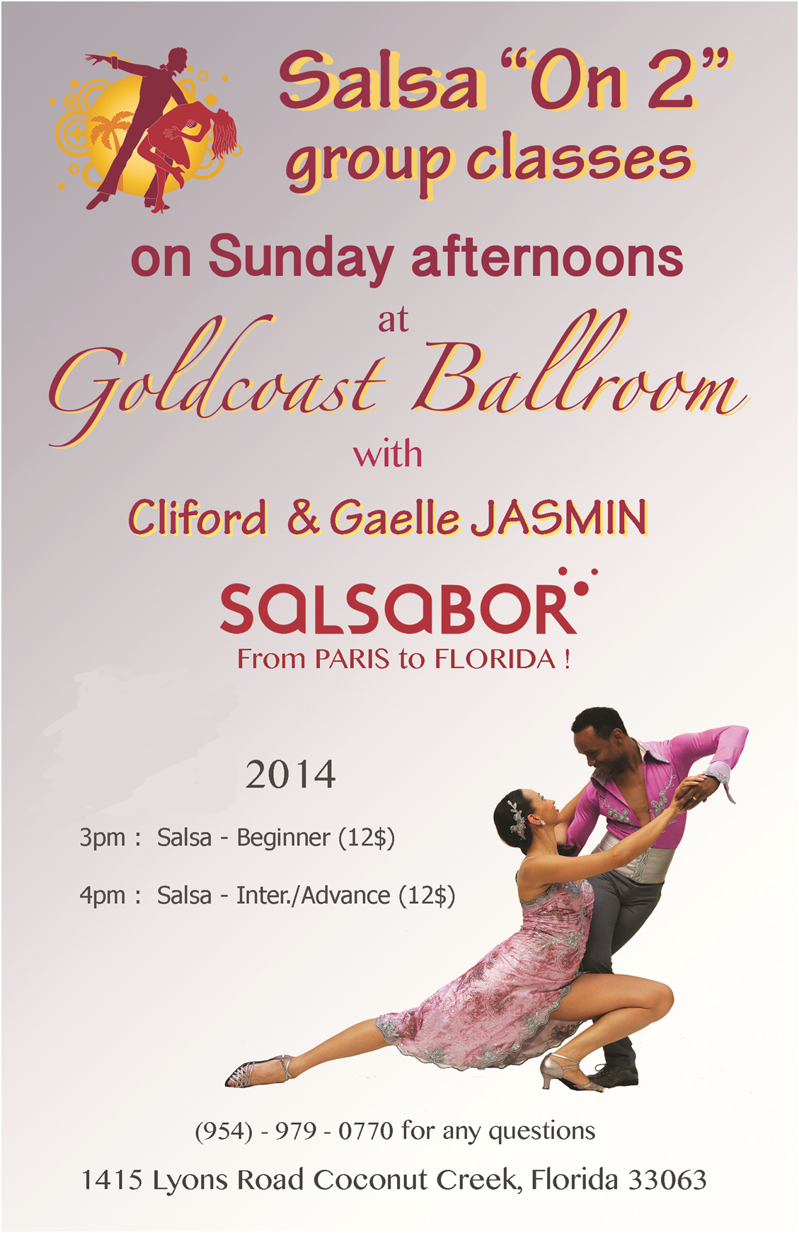 Salsa on 2 - 2014 - Sundays at Goldcoast Ballroom