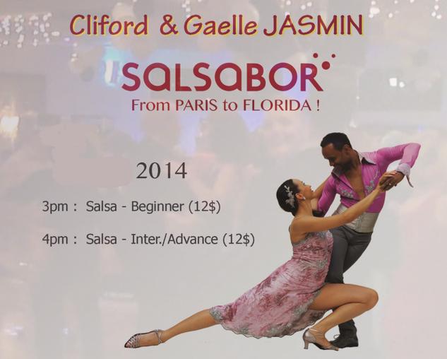 Salsa on 2 - with Cliford & Gaelle Jasmin - Sunday Afternoons at Goldcoast Ballroom