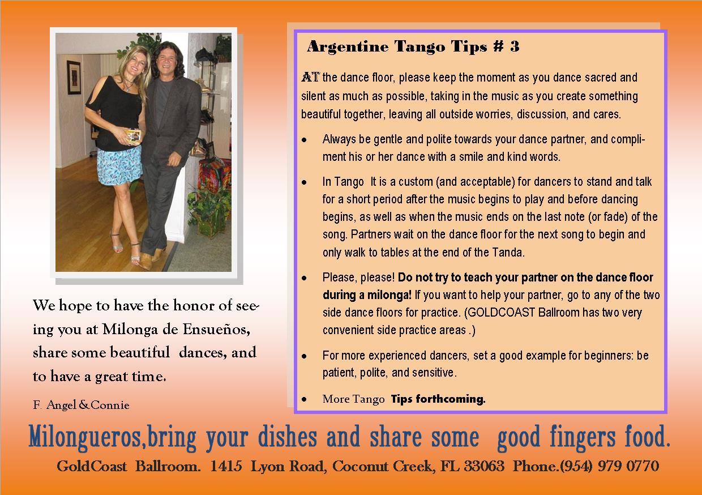 TANGO TIPS # 3