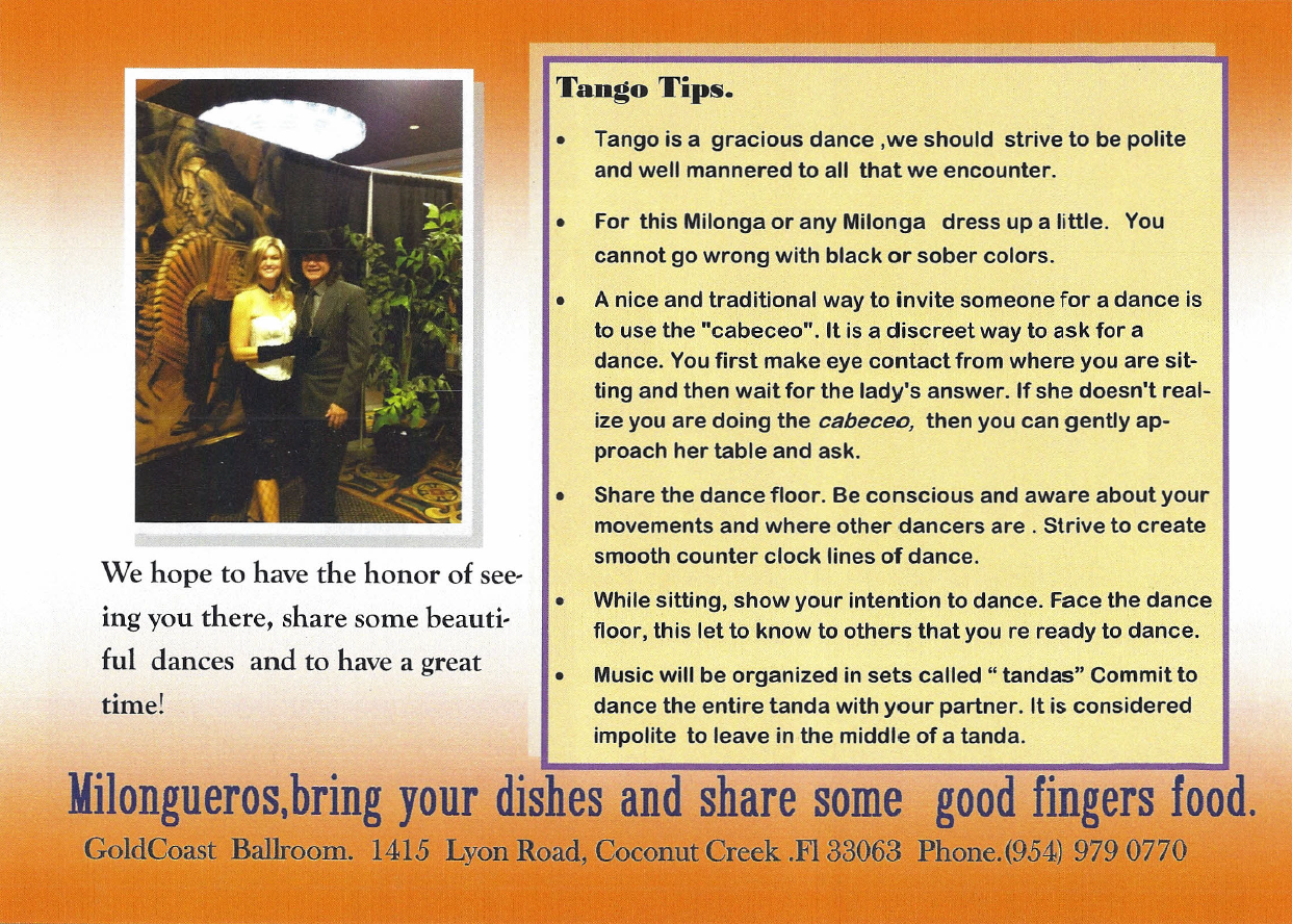Tango Tips # 1,  by  F. Angel