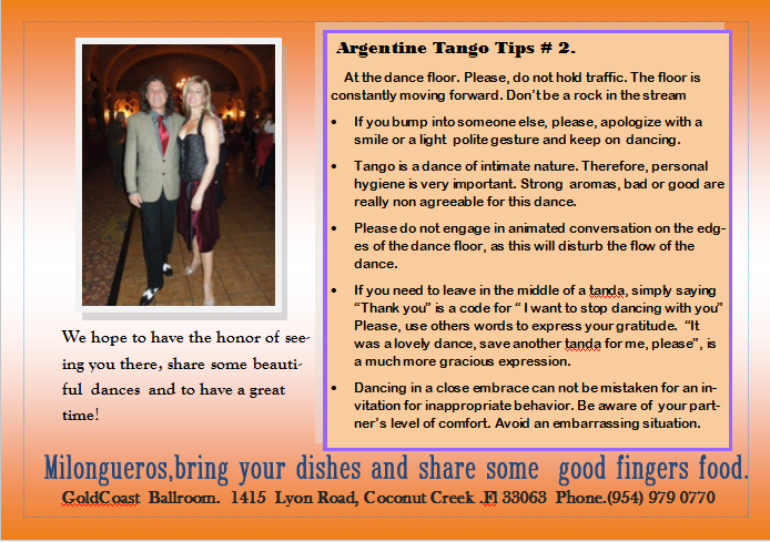 Argentine Tango Tips # 2, by F. Angel