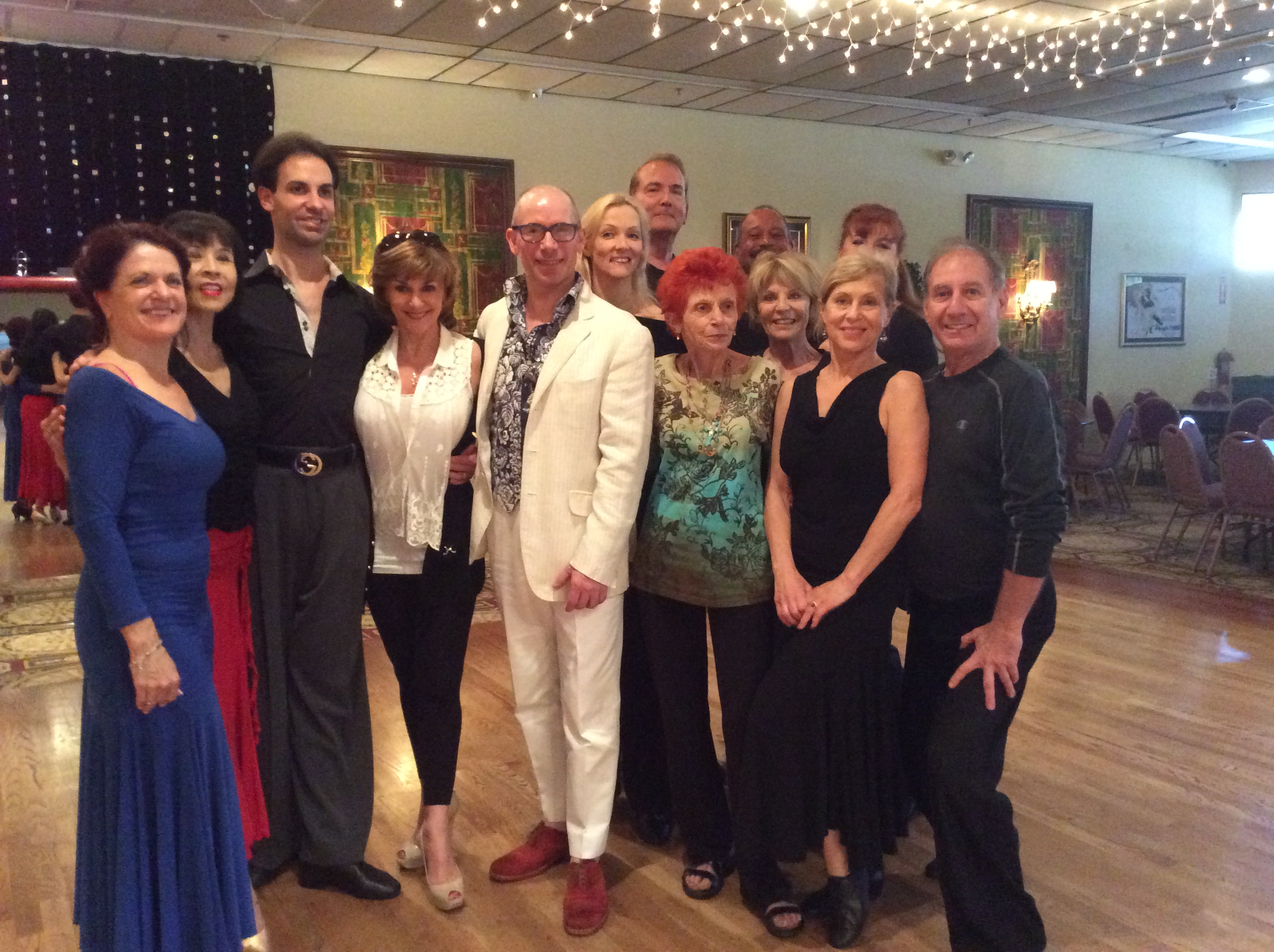 Paul Killick, Shirley Ballas & Rufus Dustin with an Impromptu Gathering of Some of Our World Class Instructors and Students at Goldcoast Ballroom, Saturday, March 8, 2014