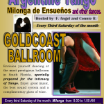 Milonga de Ensueños – Special Argentine Tango Party – March 15, 2014 and Every Third Saturday of the Month