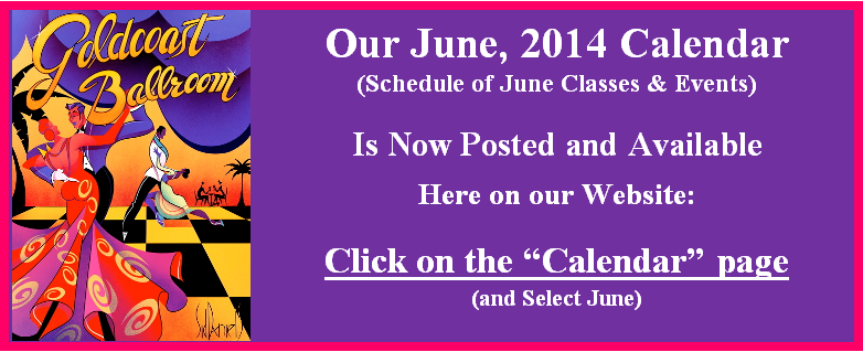 June Calendar Now Posted and Available on the Calendar page of this website