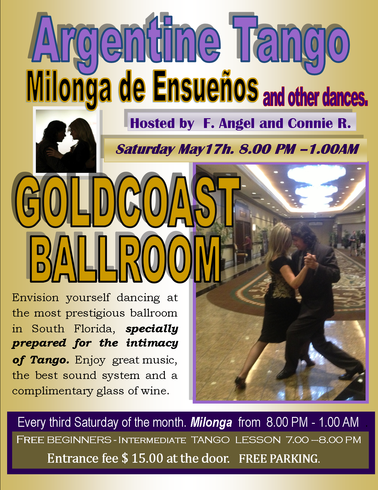 Milonga de Ensuenos May 17, 2014 at Goldcoast Ballroom