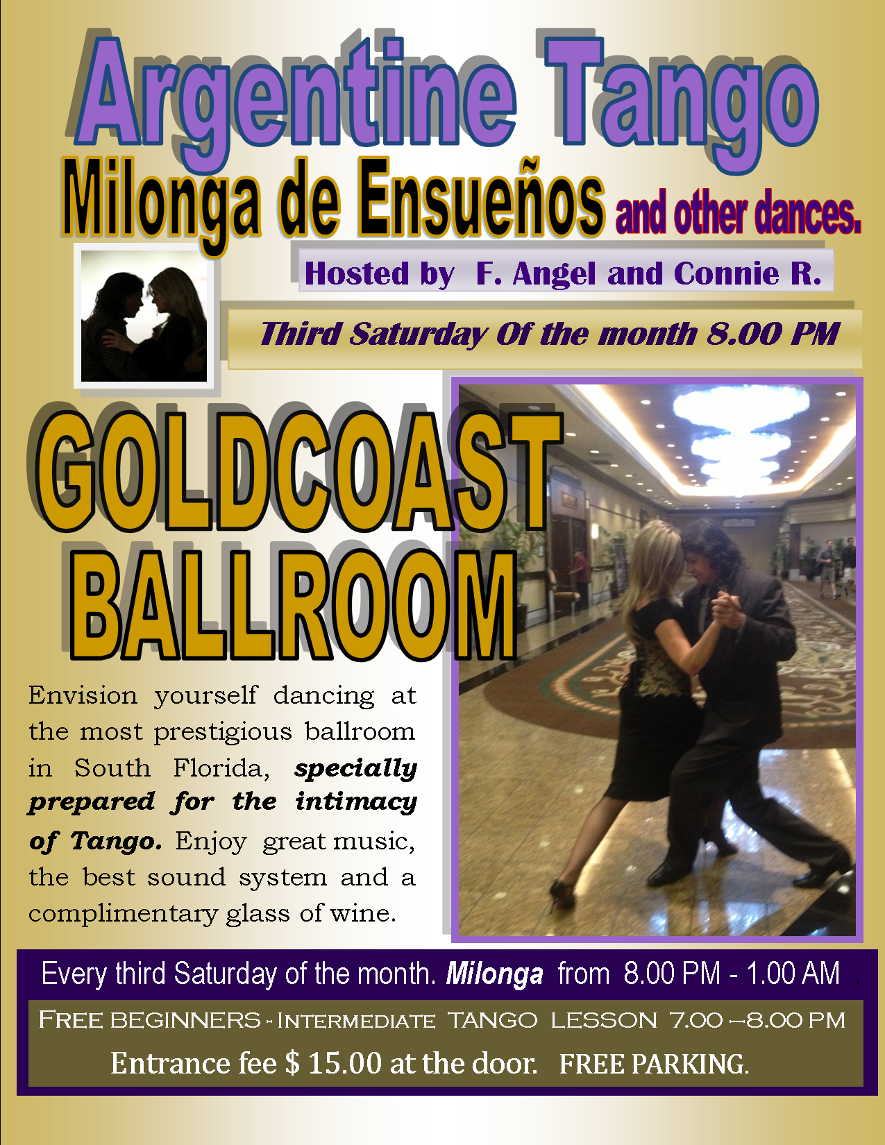 Milonga de Ensuenos – June 21, 2014 - at Goldcoast Ballroom