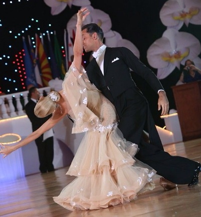 Learn International Style Viennese Waltz with Paolo & Liene Di Lorenzo – 8:00 PM – 9:00 PM Thursdays, July 3, 10, 17, and 31!