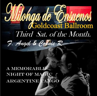 MILONGA DE ENSUEÑOS PARTY – Argentine Tango + More – Saturday September 20 – 8:00 PM – 1:00 AM!!