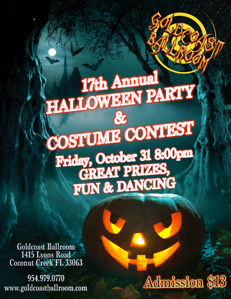 Halloween Party & Costume Contest - Friday, October 31  8 PM