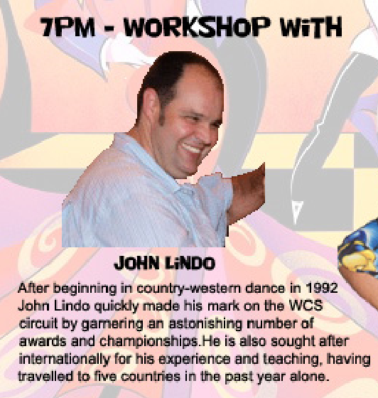 December 5 West Coast Swing Workshop with John Lindo - 7 PM