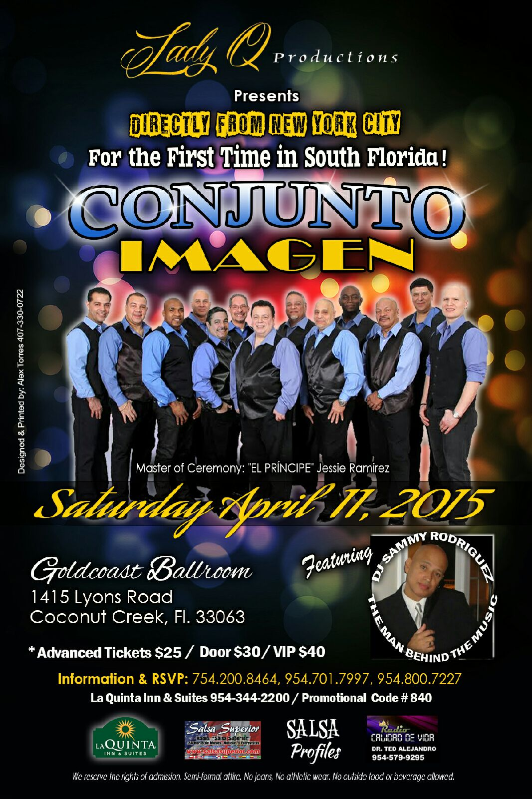 Click to print Flyer:  CONJUNTO IMAGEN - Directly from New York City - Live at Goldcoast Ballroom - Saturday, April 11, 2015