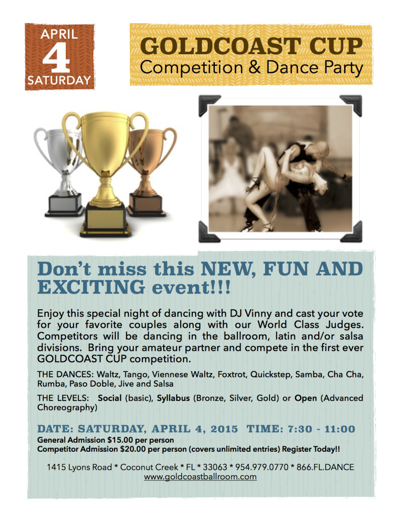 Goldcoast Cup Competition & Dance Party - April 4, 2015
