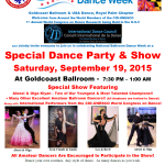 Special Party & Show Celebrating National Ballroom Dance Week  - September 19, 2015
