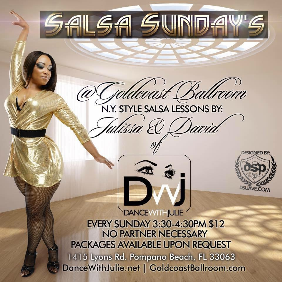 Click to Enlarge & Print: Salsa Sundays with Julissa Hernandez - DanceWithJulie