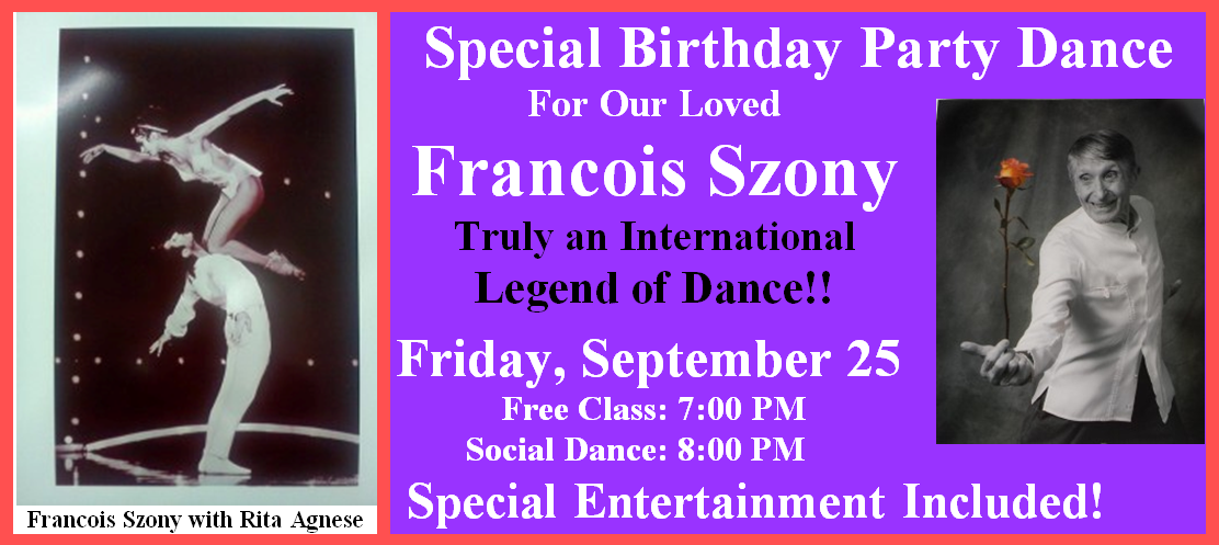 Francois Szony - Special Birthday Celebration - September 25, 2015