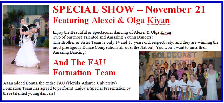 November 21, 2015 - Special Show