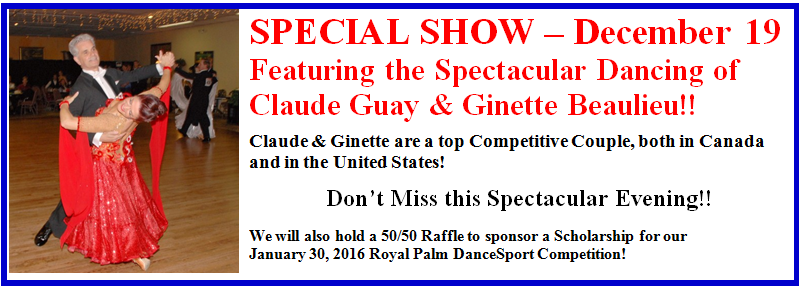 December 19, 2015 - Special Show Featuring Claude Guay & Ginette Beaulieu