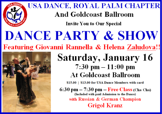 January 16, 2016 USA Dance Night - Dance Party & Show