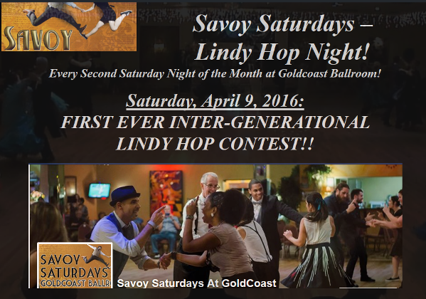 Savoy Saturdays - April 9, 2016 - First Ever Inter-Generational Lindy Hop Contest!