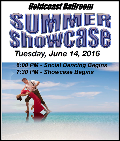 Goldcoast Ballroom Summer Showcase - June 14, 2016