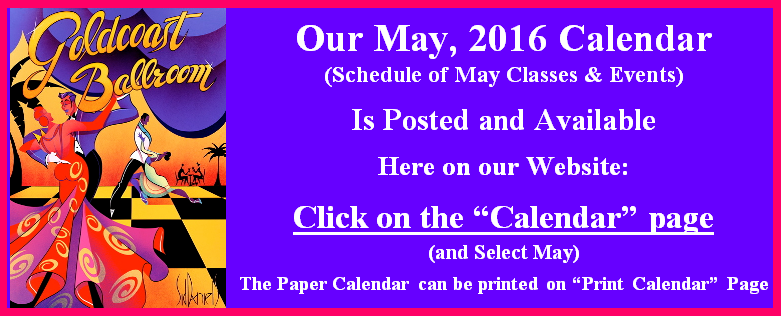 Click Here to View our May 2016 Calendar
