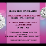 Classic Disco Dance Party + Ballroom Dance - Third Friday of Each Month - 8PM - 1AM