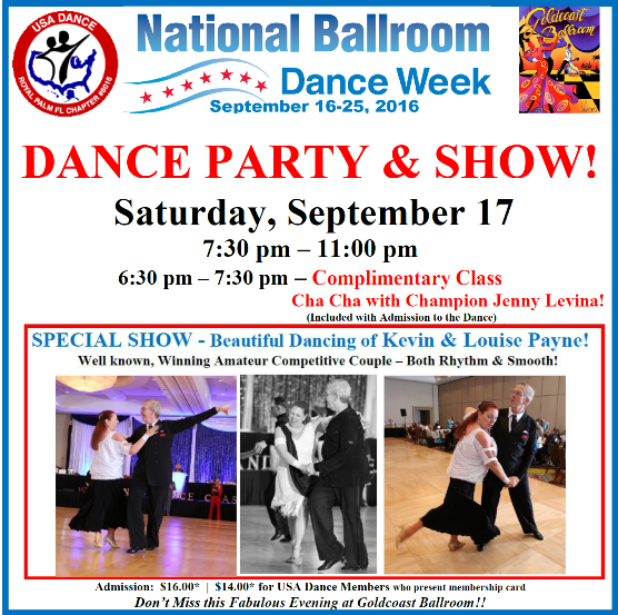 September 17, 2016 - USA Dance Party & Show - National Ballroom Dance Week - 556 X 553