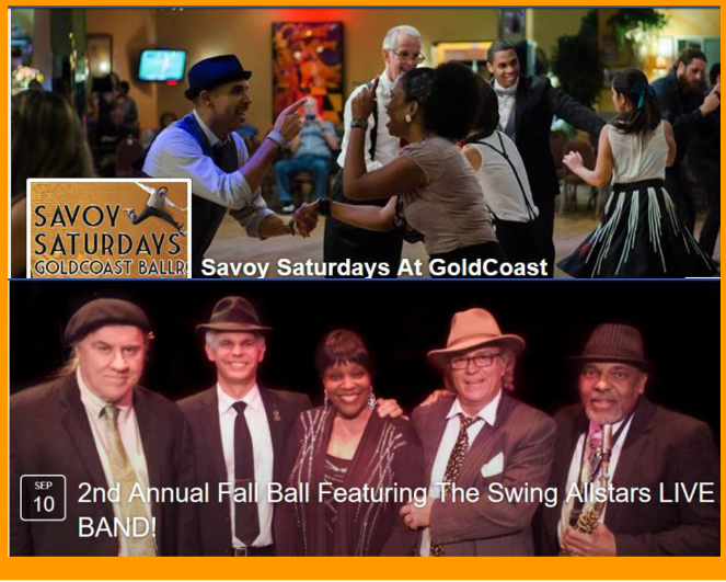 Savoy Saturdays - September 10, 2016 - 2nd Annual Fall Ball with LIVE BAND - Swing Allstars!!