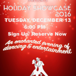 Goldcoast Ballroom 2016 Holiday Showcase – Tuesday, December 13, 2016 – 6:00pm Social Dancing; 7:30pm Showcase Starts – Sign Up/ Reserve Now!
