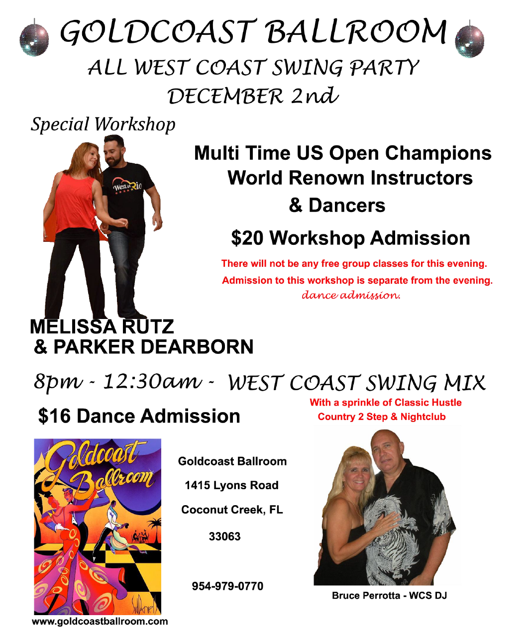 West Coast Swing Party - December 2, 2016 At Goldcoast Ballroom