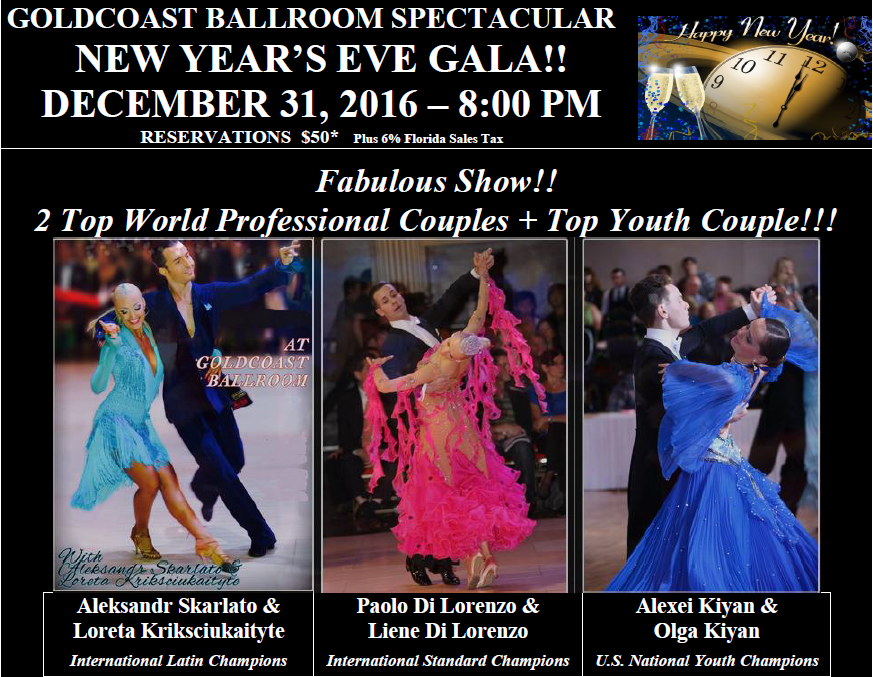 Click to Print Flyer: 2016 Spectacular New Years Eve Gala Fabulous Show!!
