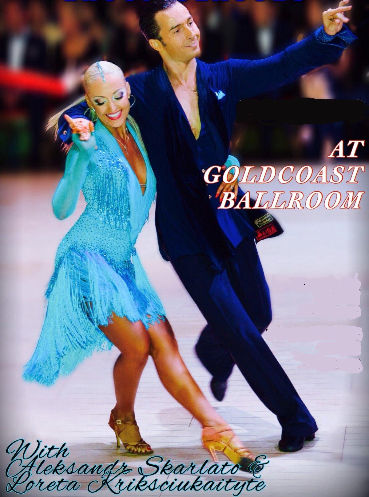Aleksandr Skarlato & Loreta Kriksciukaityte - International Latin Champions.  Aleksandr teaches International Latin Classes Monday Evenings at Goldcoast Ballroom!!