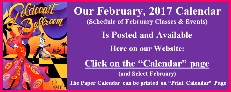 February 2017 Goldcoast Calendar Posted