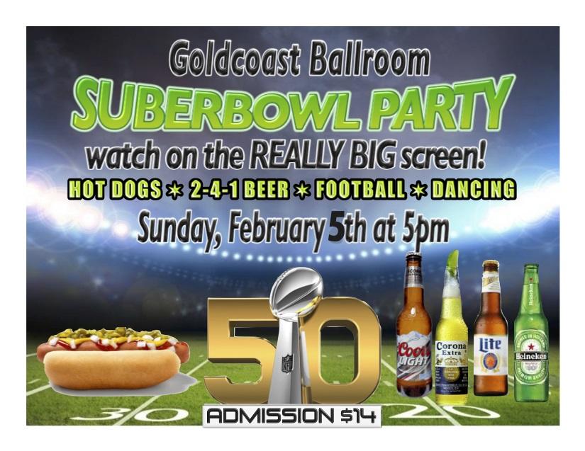 Superbowl Party Sunday, February 5, 2017