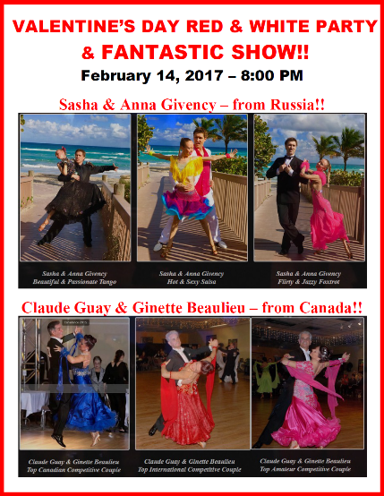 Valentine's Day Red & White Party & Fantastic Show - February 14, 2017