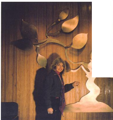 Arline Peartree, Artist & Lecturer With One Of Her Sculptures